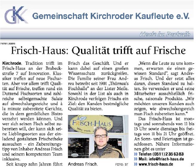 Portrait Frisch-Haus